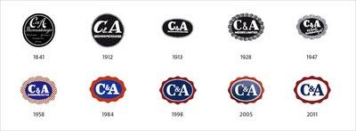 évolution logo c&a
